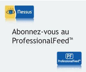 Abonnez vous  Nessus Professional Feed !